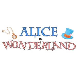 Alice in Wonderland play logo